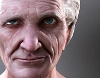 Old Man Face Sculpt