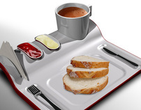 Breakfast_ ready tray.