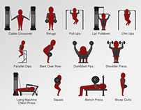 13 Animated Gym Icons - After Effects Template