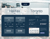 Porter Airlines Checkout Page