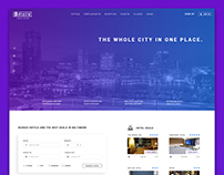 City guide landing page concept