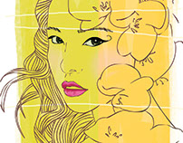 Min Hyo Rin Vector Ilustration
