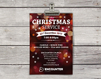 Encounter stationery, Christmas leaflet and signage