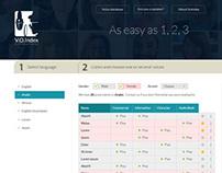 Homepage design for voicesindex.com
