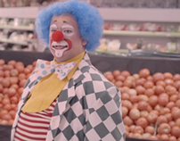 Clown Love in a Supermarket