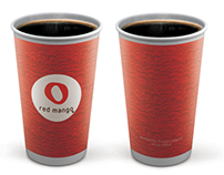 Paper Cup red mango