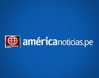 Diseño del Portal América Noticias | Diseño web