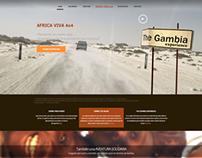 Web AFRICA VIVA 4X4 - Parallax design