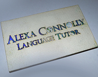 Language Tutor - Business Card