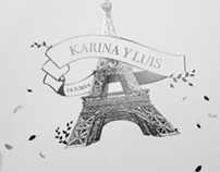 Paris Theme Wedding Stationary