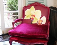 Hot Pink Orchid Arm Chair