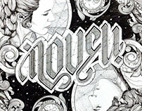 I LOVE U / I KNOW Ambigram Artwork
