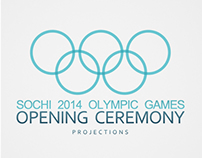 sochi 2014 opening ceremony. projection