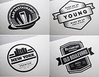 80 Vintage Labels & Badges Logos - Premium Bundle