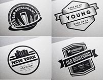 80 Vintage Labels & Badges Logos - Premium Bundle