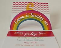 Emma turns 6! Invitations