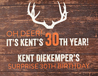 Kent's 30th Invites