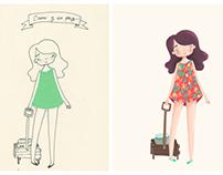 Ilustration · Girls & Pets ·