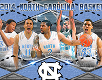 2013-14 UNC Basketball Poster