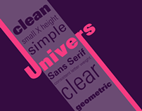 UNIVERS typeface motion graphics