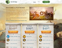 ArcheAge Founders Pack Page