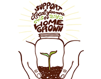 Support Local Farmers Graphic