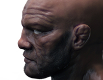 Randy Couture 3D Head Sculpt