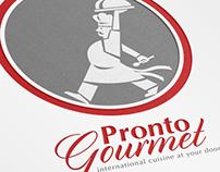 Pronto Gourmet Retro Logo Template