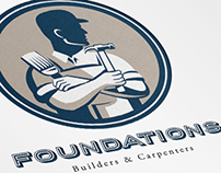 Foundations Builders and Carpenters Logo Template