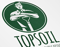 Top Soil Gardening and Landscaping Logo Template