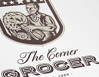 The Corner Green Grocer Logo Template