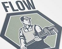 Flow Plumbing Service Logo Template