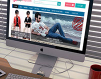 E-Commerce Psd template design