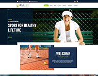 Athlete website concept design