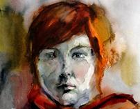 Portraits. Watercolor