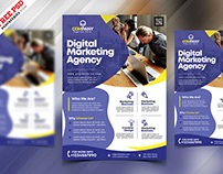Marketing Agency Promotion Flyer PSD