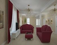 Design interior living casa clasica Bucuresti