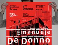 """Poster """"Visiting Professors"""" Emanuele De Donno / 2014"""