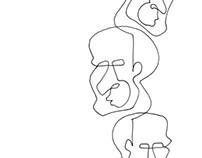 Line face illustration