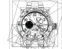 Reloj en vectores/Vector of a wristwatch