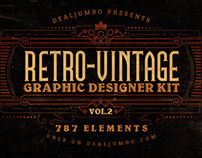 Retro/Vintage Graphic Designer Kit v.2