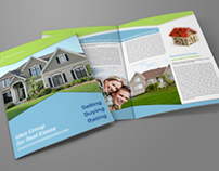 Real Estate Company Brochure Bi Fold Template Vol2
