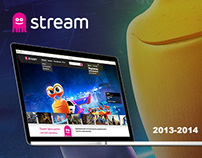 "Video-service ""Stream.ru"" web and poduct design"