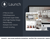Launch – One Page Website Template for Corporate