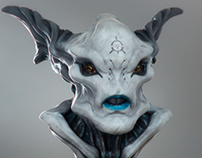 Alien head Vray