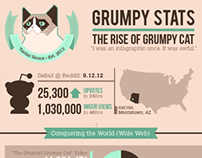 Grumpy Stats – The Rise of Grumpy Cat Infographic
