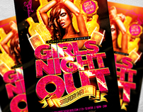 Girls Night Out Flyer Template PSD