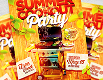Summer Cookout Flyer Template PSD