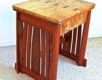 Myrtle Burl & Bubinga Side Table