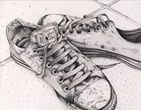 All Stars in pointillism and conté
